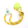 Shifting Gears - MADE IN USA, 1-Ball Toss & Tug Toy, Recycled tennis ball & rock climbing rope