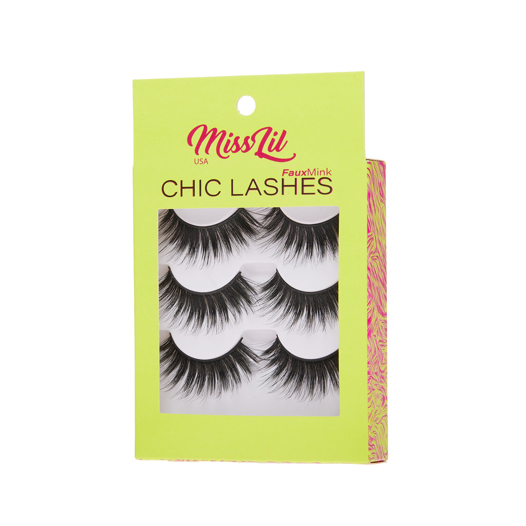 3 Pairs Lashes - Chic Lashes Collection #29