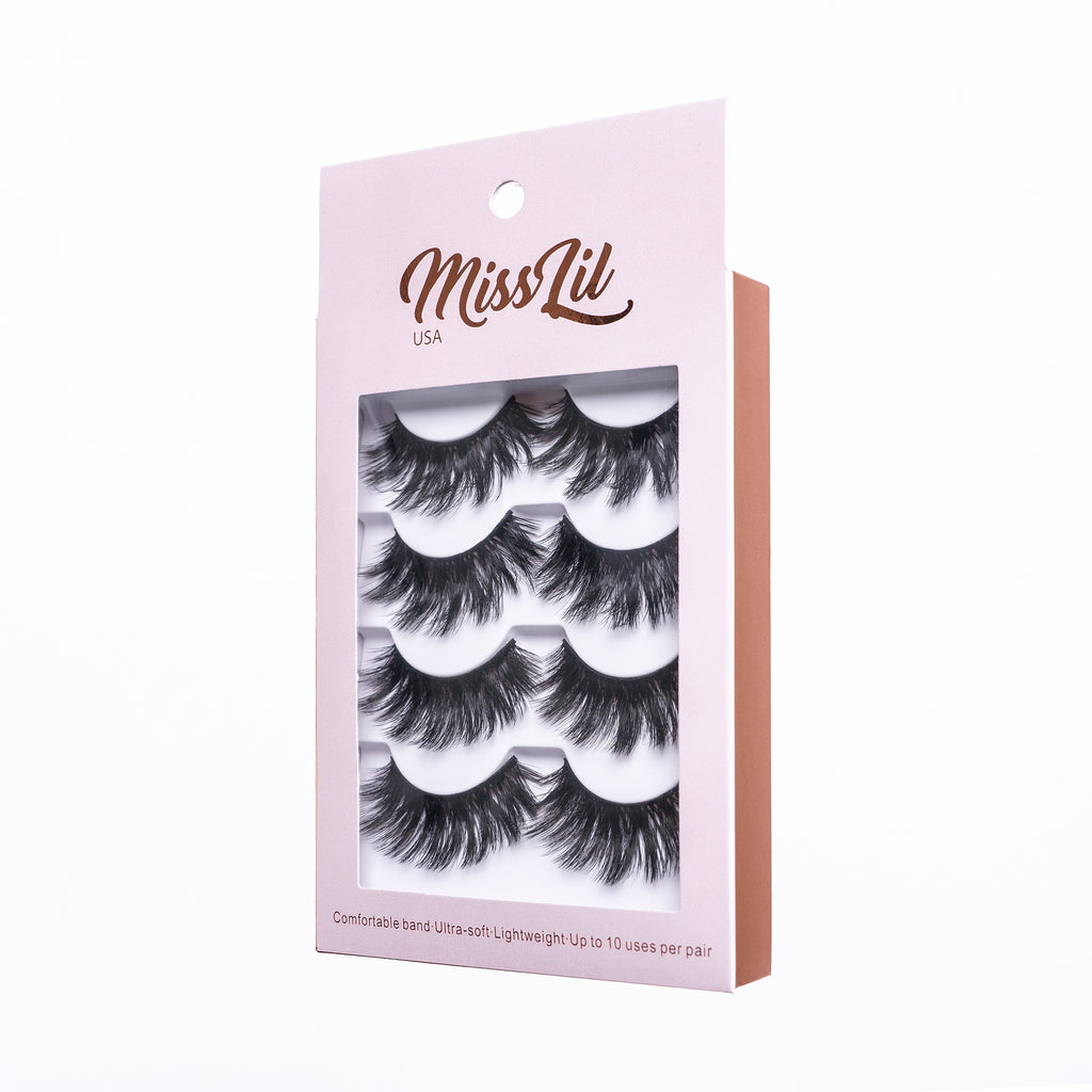4 Pairs Lashes - Classic Collection #10