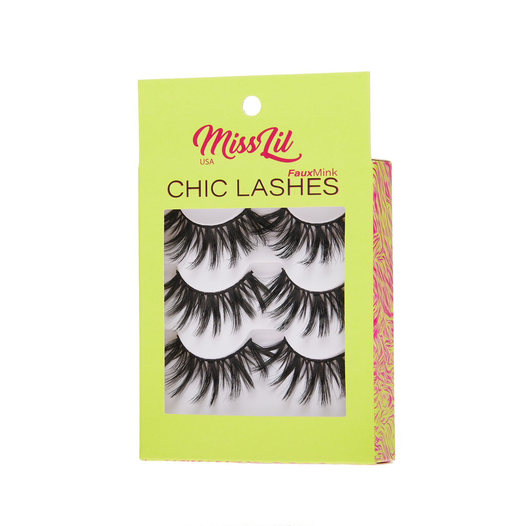 3 Pairs Lashes - Chic Lashes Collection #23