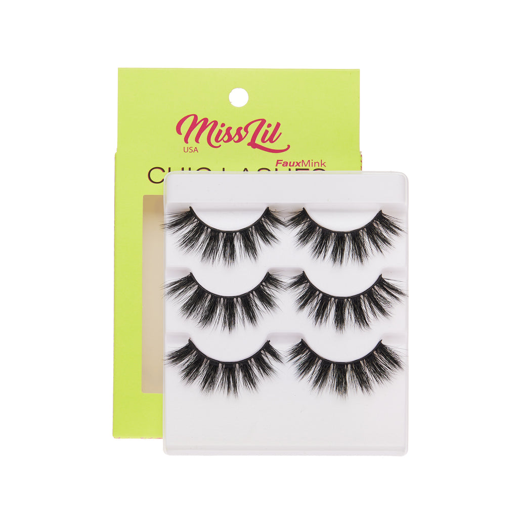 3 Pairs Lashes - Chic Lashes Collection #7