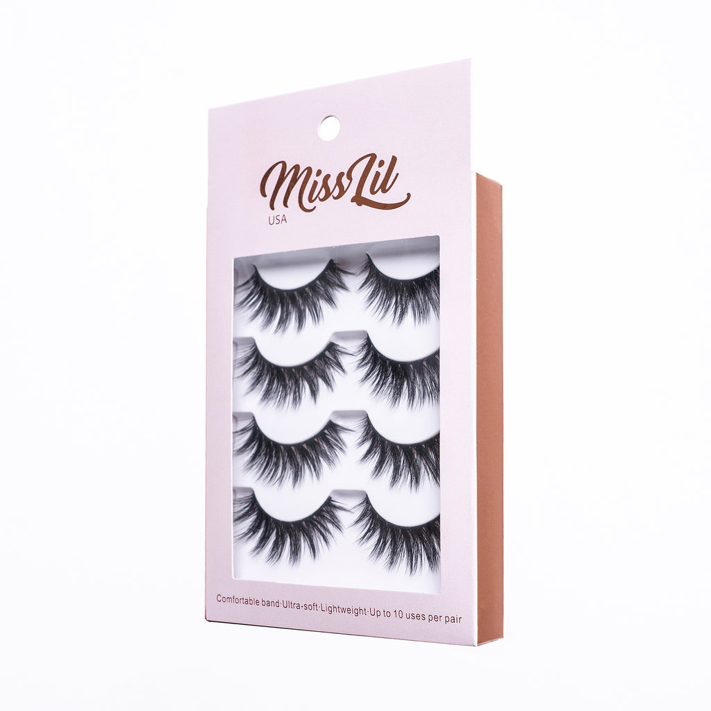 4 Pairs Lashes - Classic Collection #24
