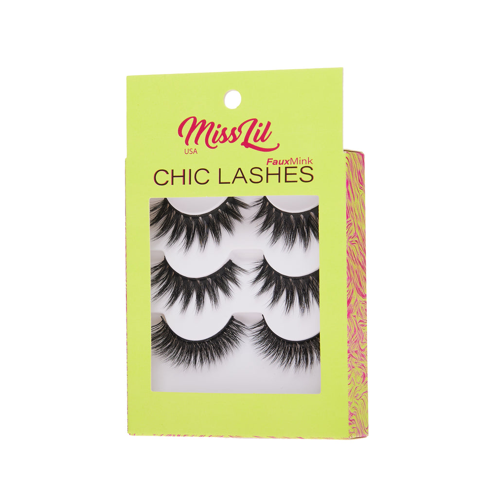 3 Pairs Lashes - Chic Lashes Collection #13