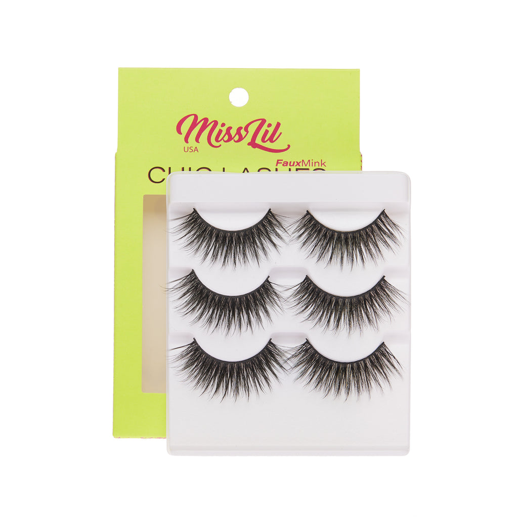 3 Pairs Lashes - Chic Lashes Collection #30