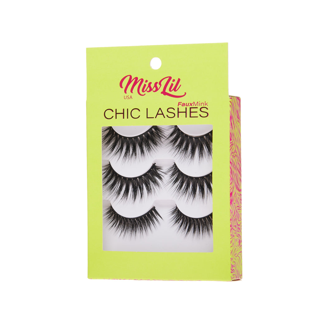 3 Pairs Lashes - Chic Lashes Collection #34