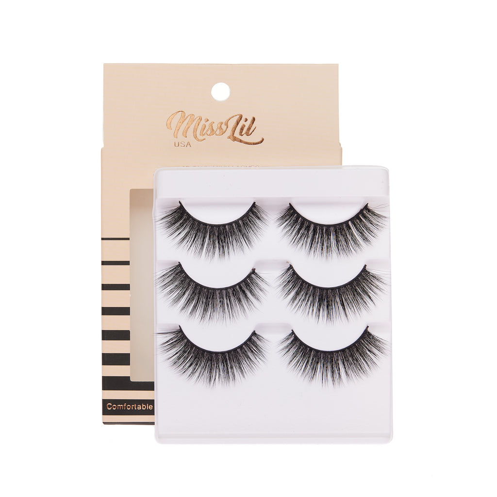 3 Pairs Lashes - Luxury  Collection #26