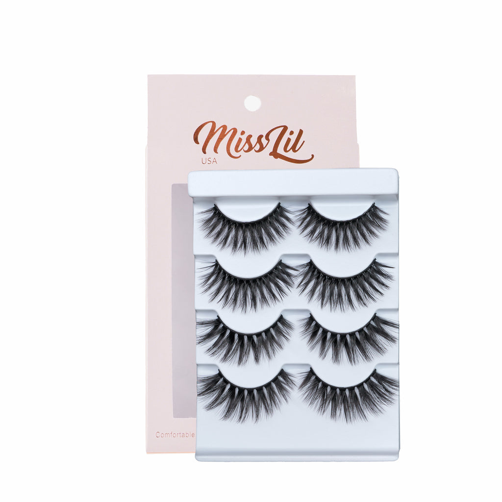 4 Pairs Lashes - Classic Collection #8