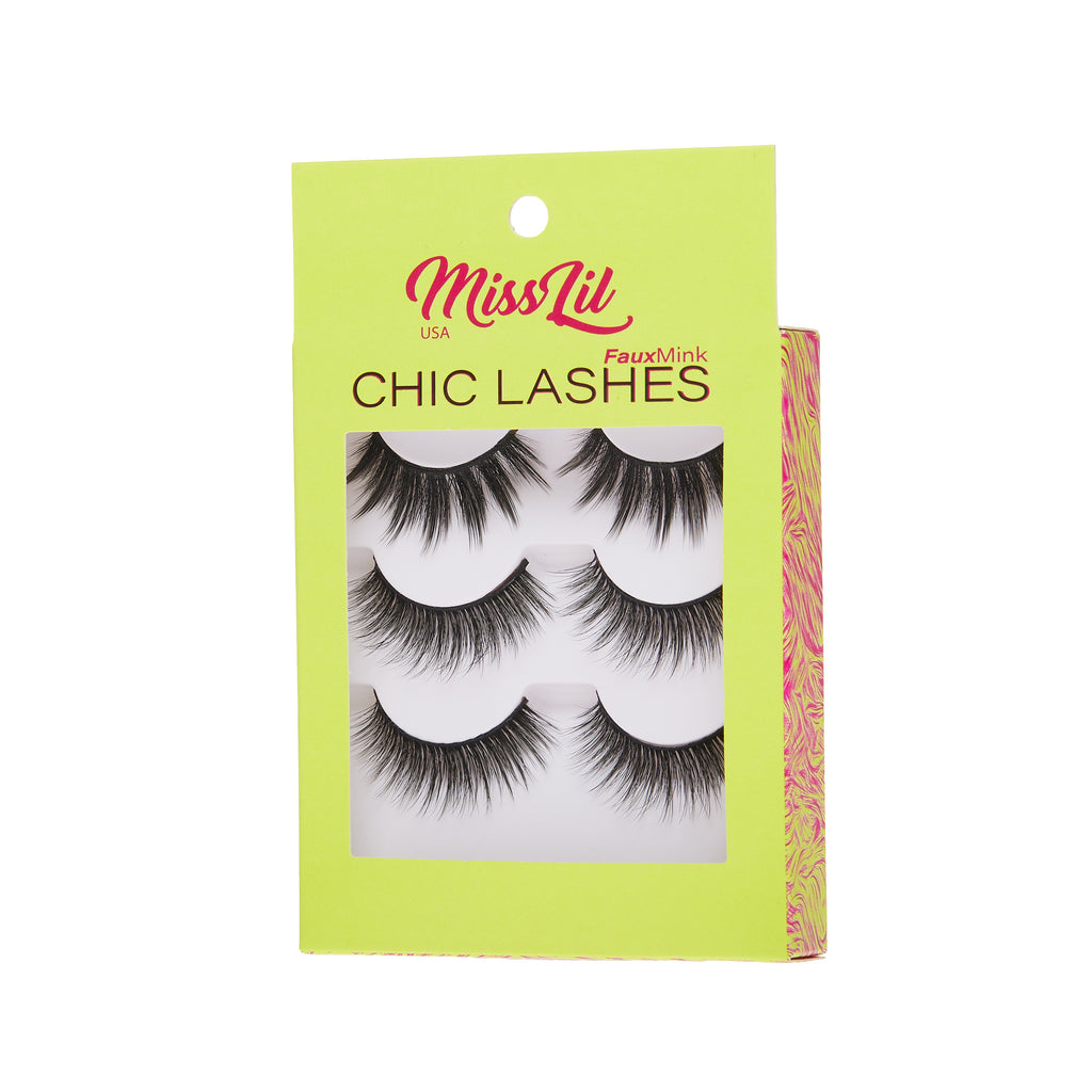3 Pairs Lashes - Chic Lashes Collection #33