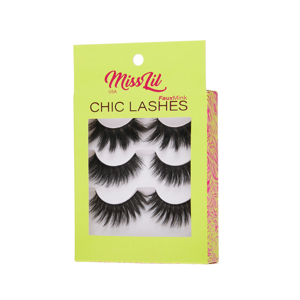 3 Pairs Lashes - Chic Lashes Collection #26