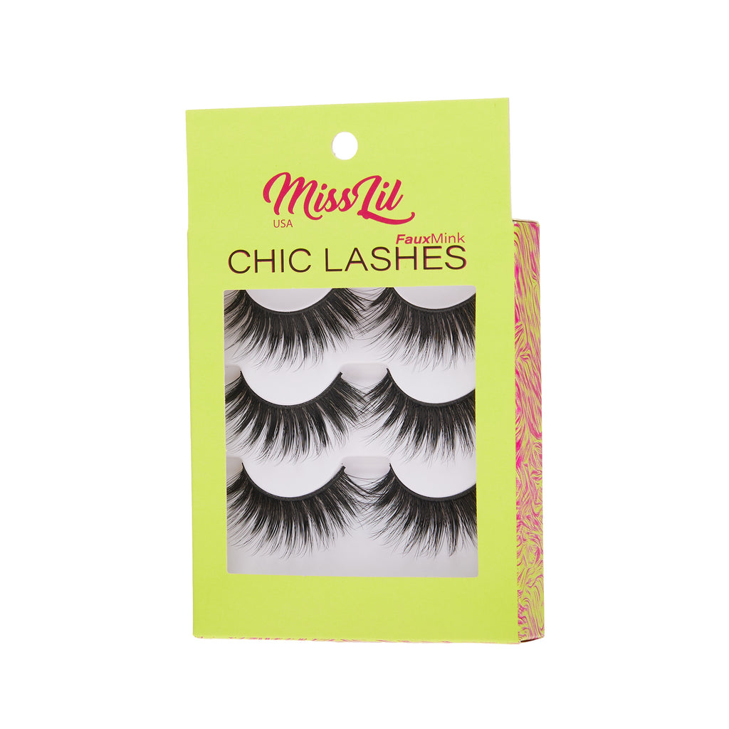 3 Pairs Lashes - Chic Lashes Collection #18