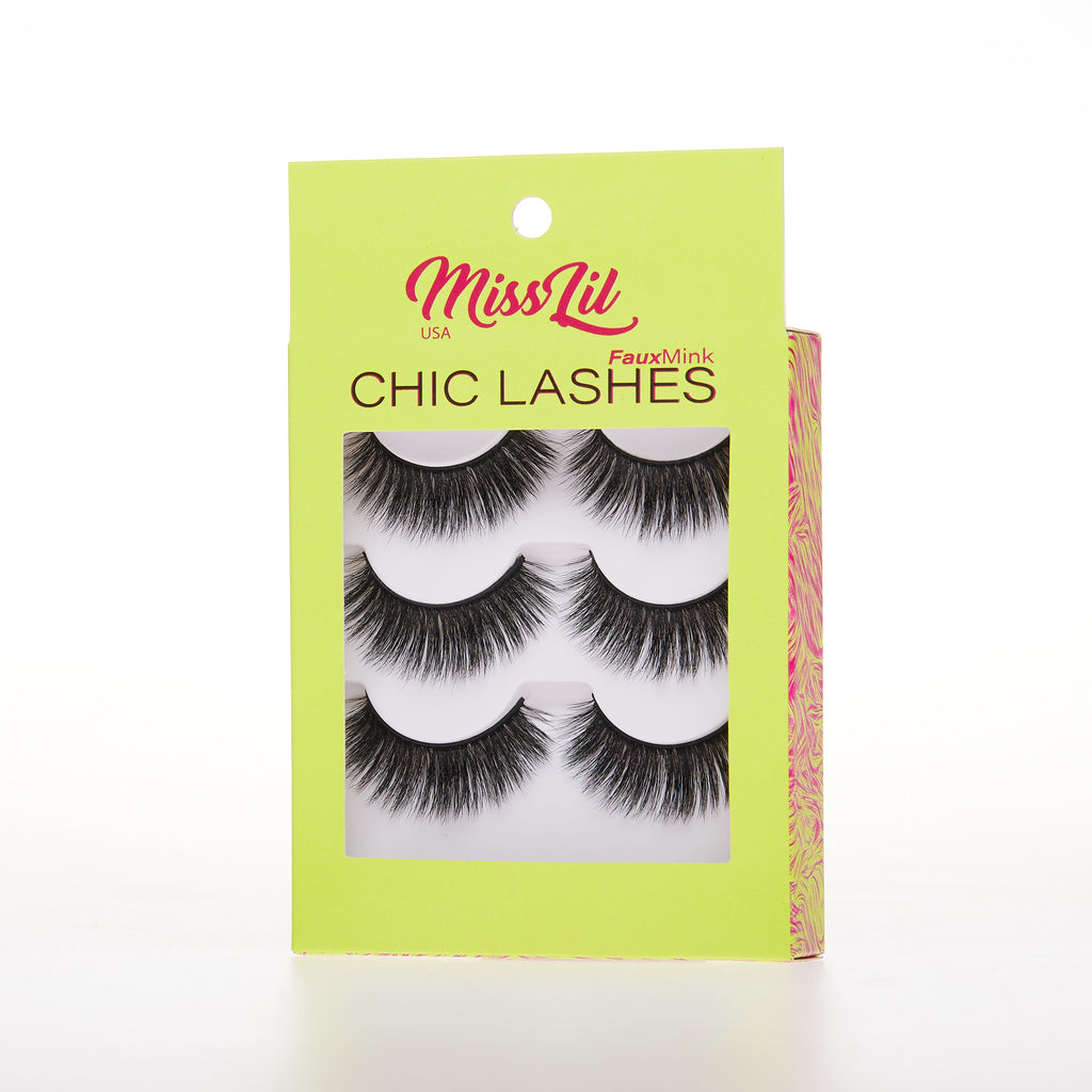 3 Pairs Lashes - Chic Lashes Collection #37