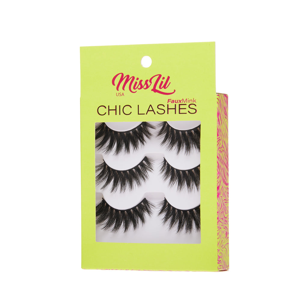 3 Pairs Lashes - Chic Lashes Collection #25