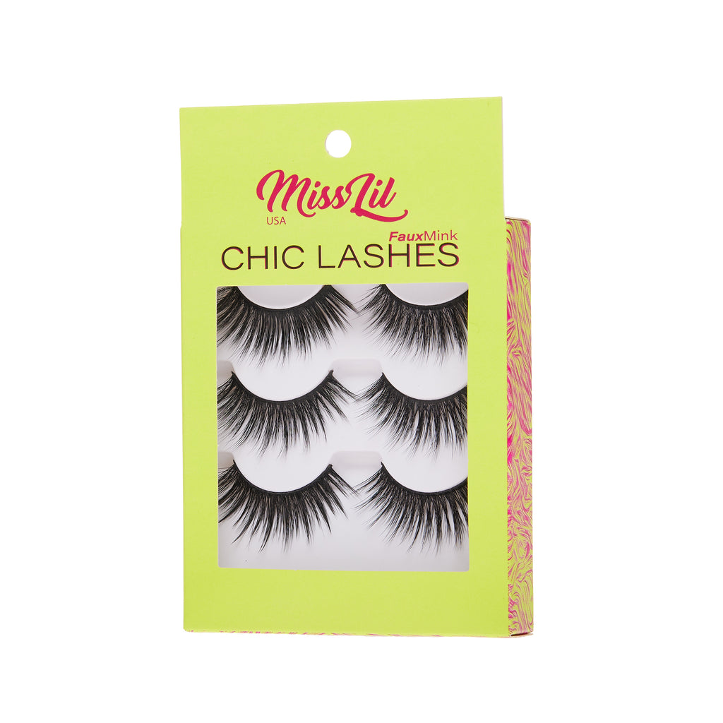 3 Pairs Lashes - Chic Lashes Collection #17
