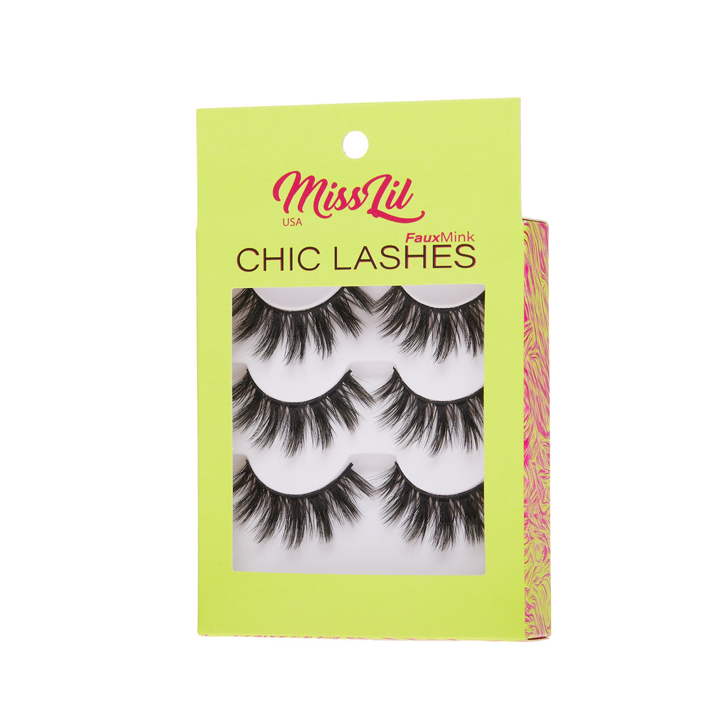 3 Pairs Lashes - Chic Lashes Collection #22