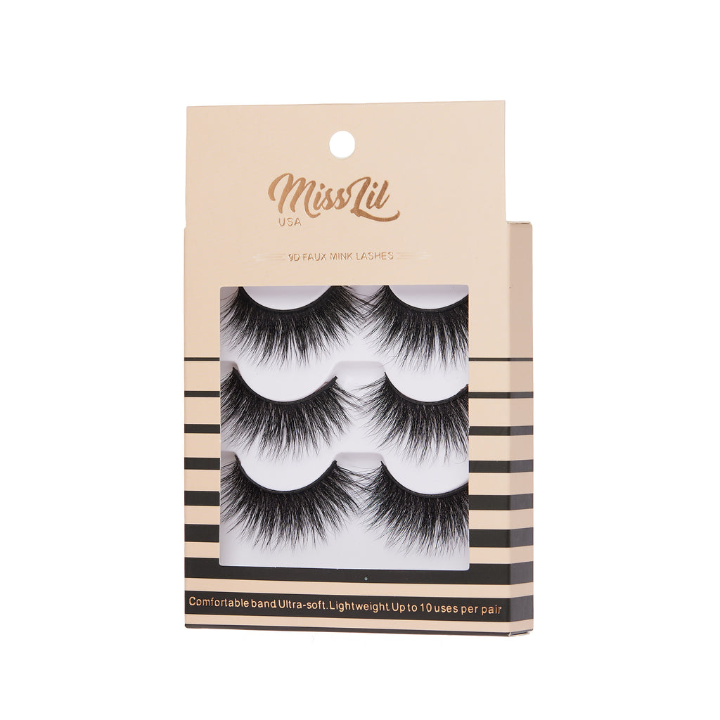 3 Pairs Lashes - Luxury  Collection #27