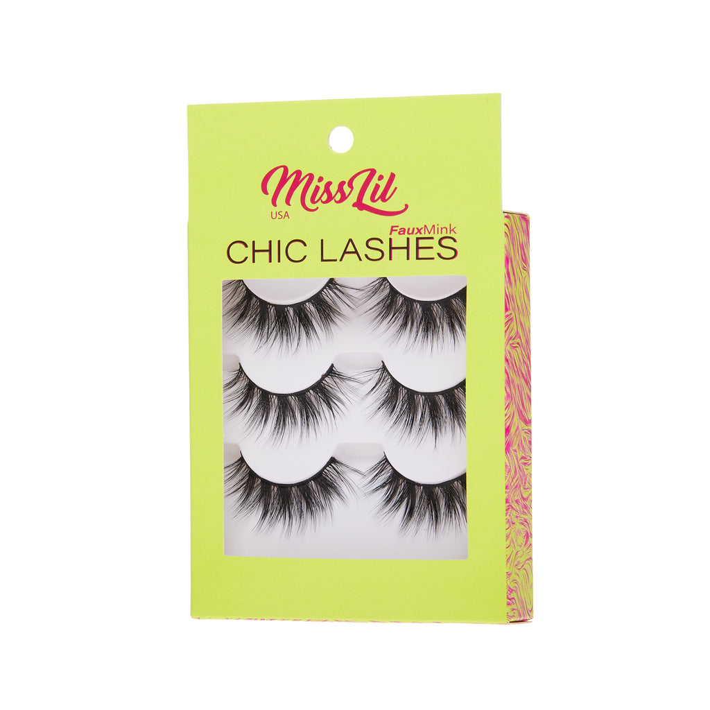 3 Pairs Lashes - Chic Lashes Collection #36