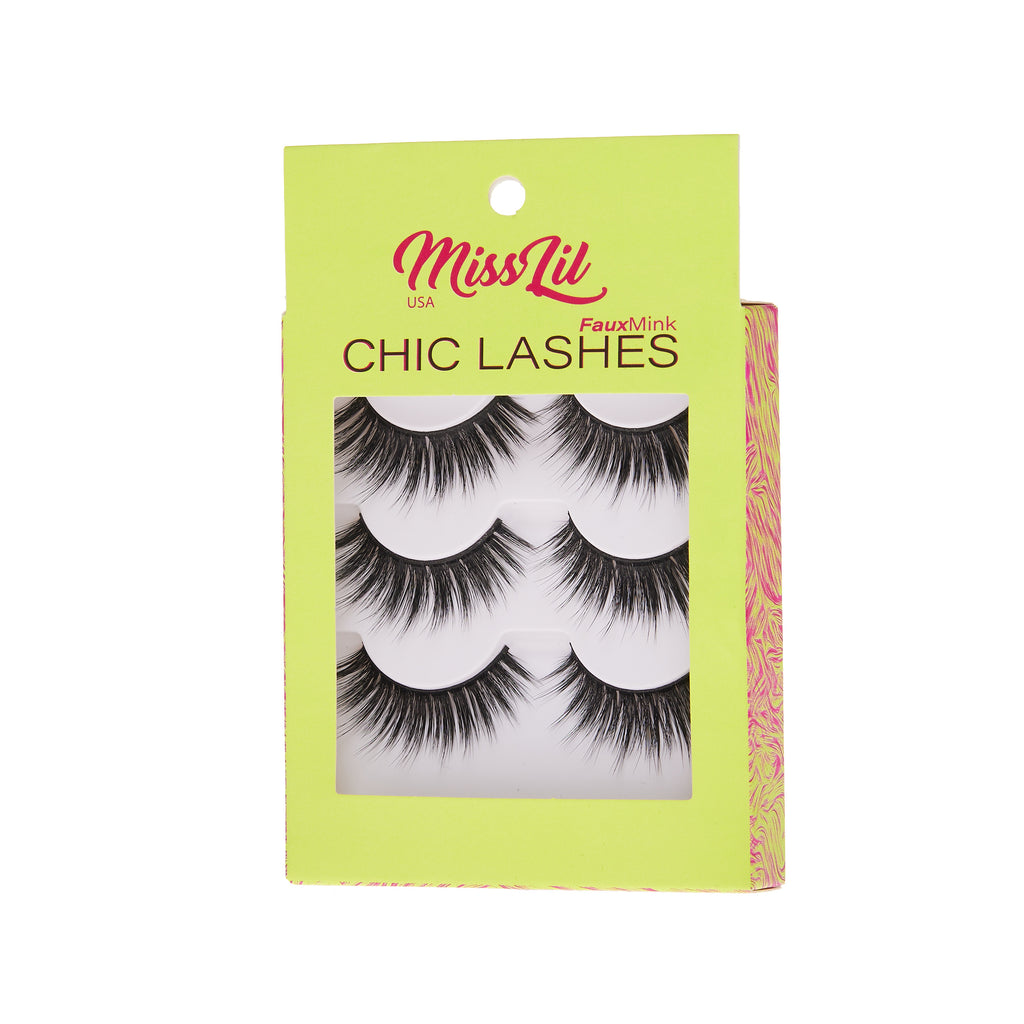 3 Pairs Lashes - Chic Lashes Collection #1