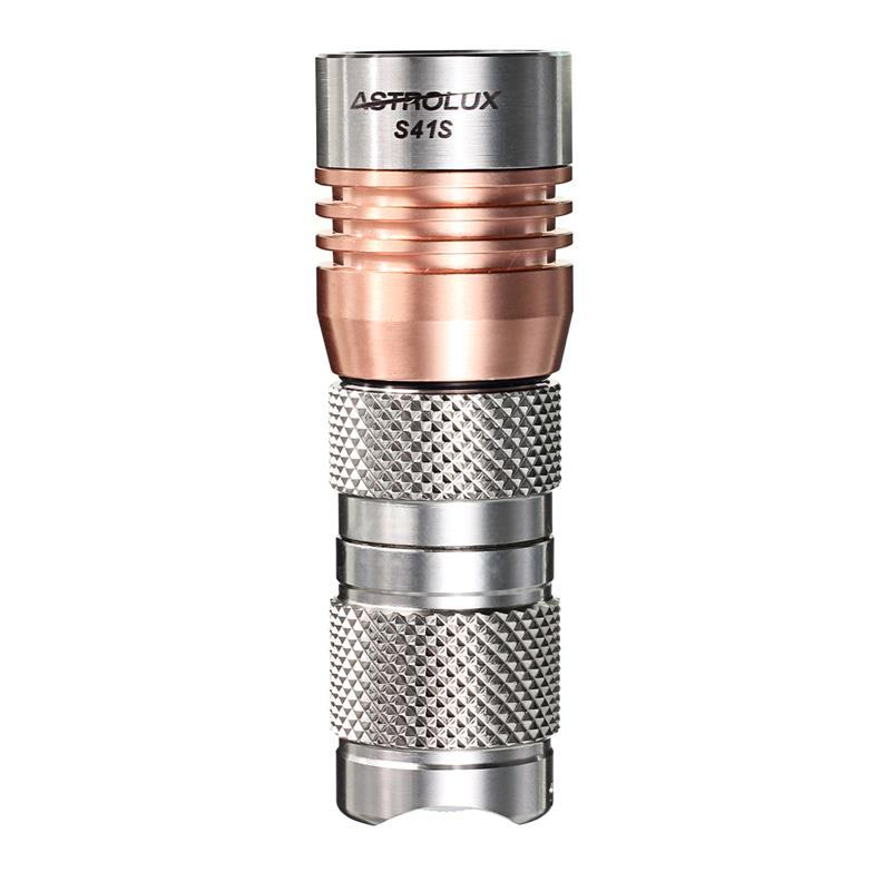 Astrolux S41S Flashlight (Stainless Steel)