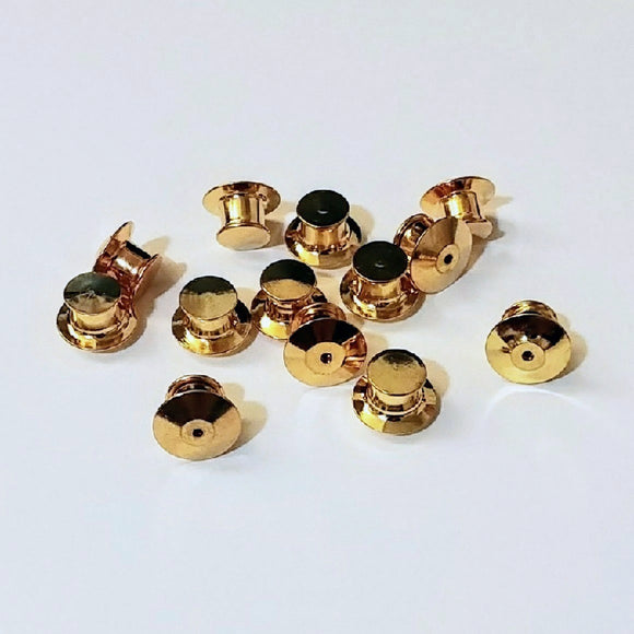 Gold Metal Locking Pin Backs