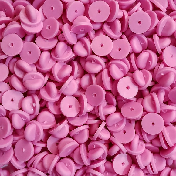 Pink Rubber Pin Backs