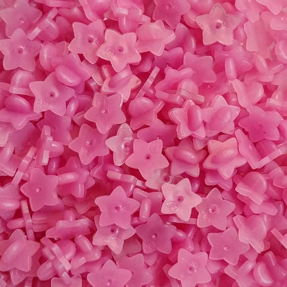 Pink Star Rubber Pin Backs