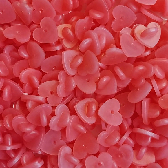 Red Pink Heart Rubber Pin Backs