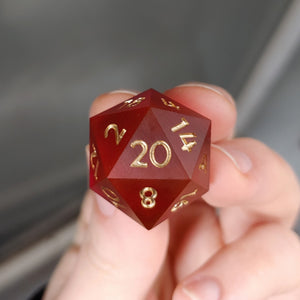 Wine Red Matte Single d20