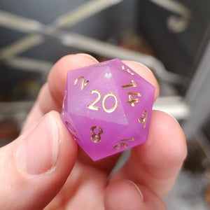 Fuchsia Figments Matte Single d20