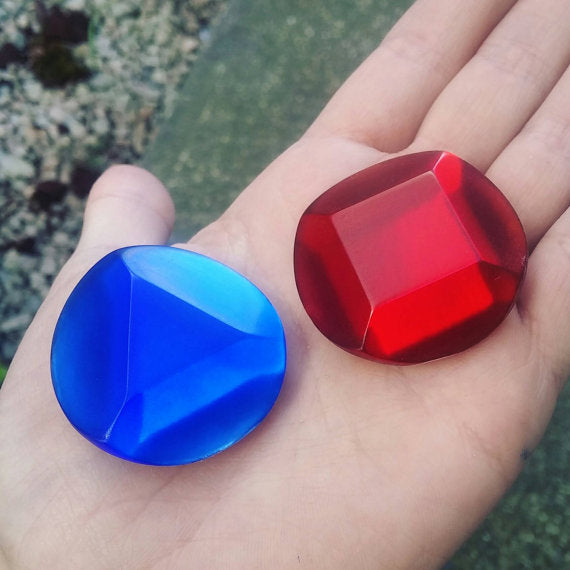 Ruby and Sapphire Resin Cosplay Gem Single or Set