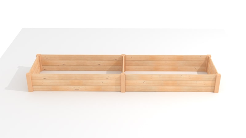A GIF for attaching the first and second walls of the Raised Bed Garden Planter