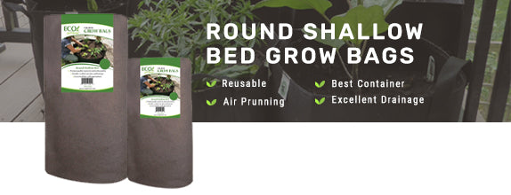 Ecogardener Round Shallow Bed Growbags
