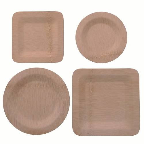 Different shapes of wood plates