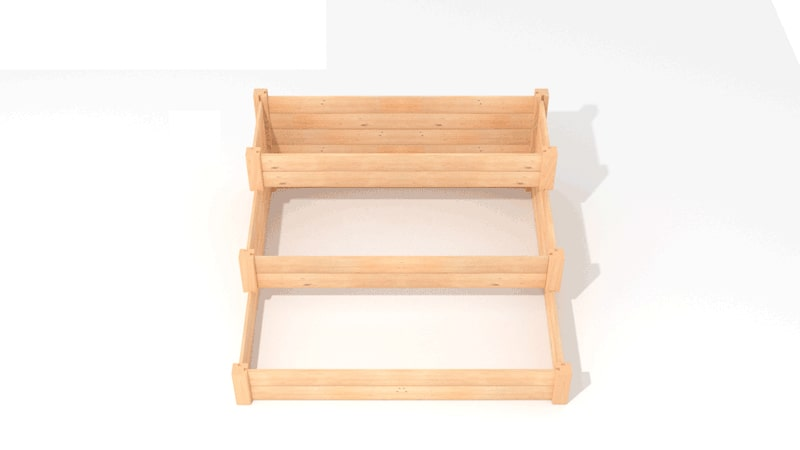 A GIF for assembling the third tier of the Three-tiered Raised Bed Planter.