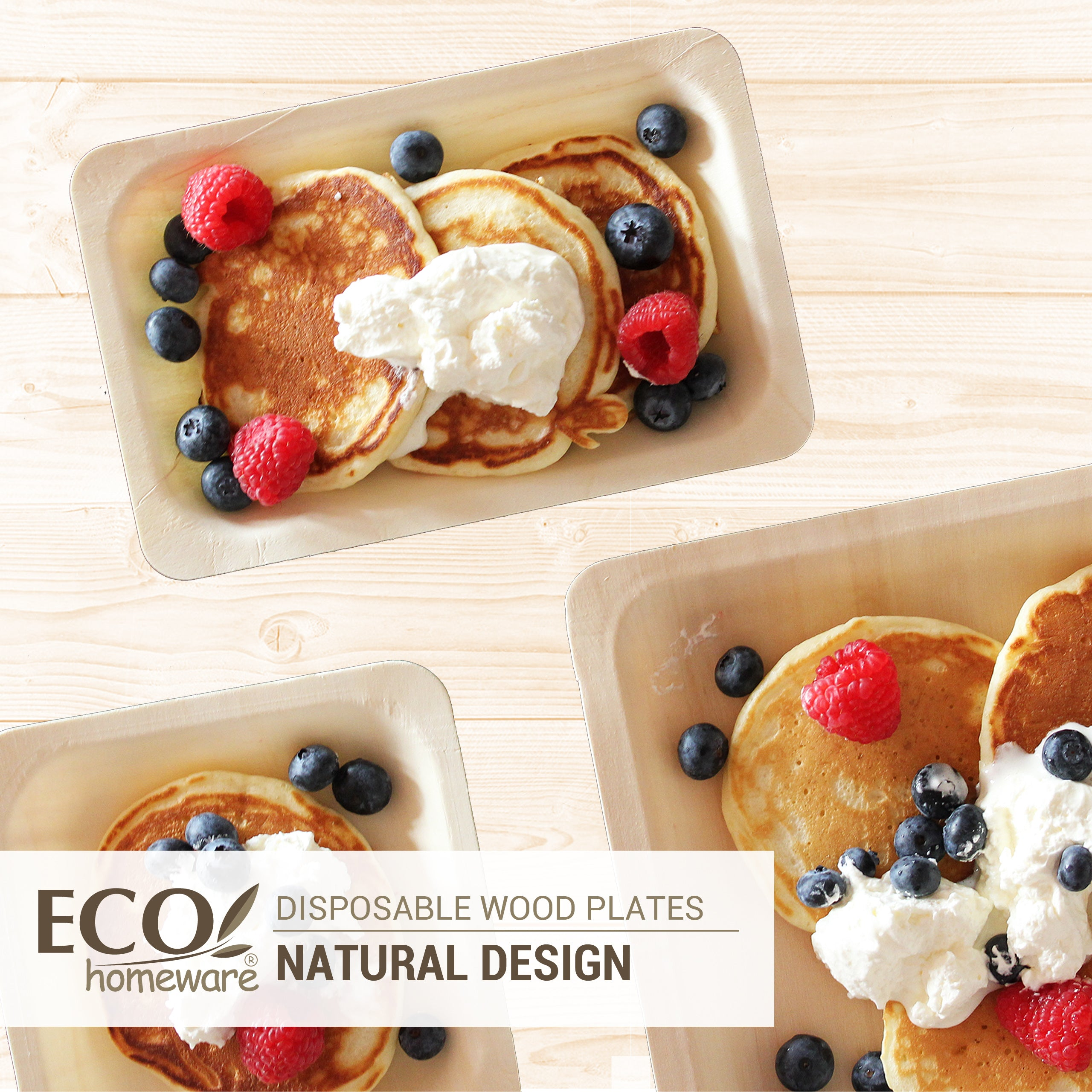 Disposable Wood Plates