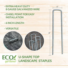 Detailed information for Ecogardener landscape staple chisel point