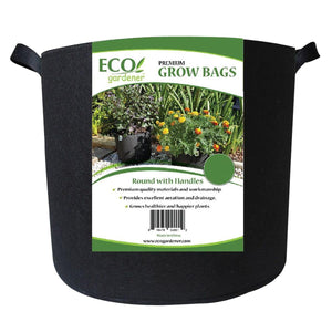 Ecogardener round grow bags with handle