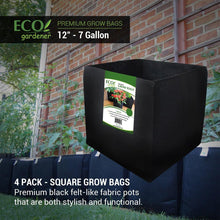 Detailed information of Ecogardener square grow bags