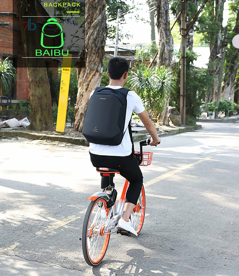 BAIBU Anti-Theft Breathable Laptop Bags cycle
