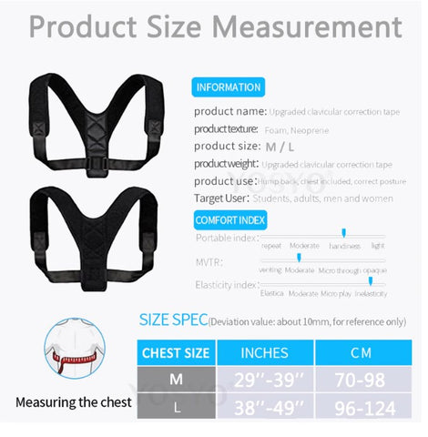 POSTURE CORRECTER SIZE