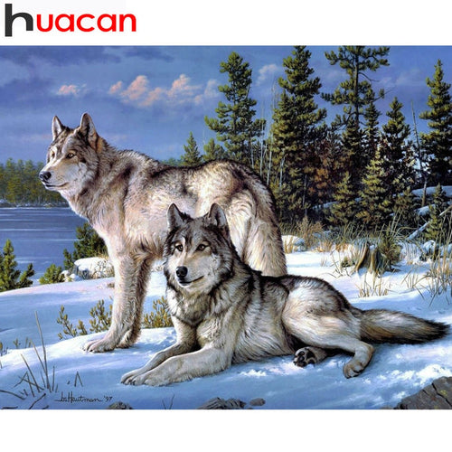 Diamond Painting Wolf Animal Embroidery - TuneUpTrends.com