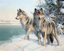Load image into Gallery viewer, Diamond Painting Wolf Animal Embroidery - TuneUpTrends.com