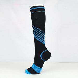 Colorful Stripe Pattern Compression Socks Men Women - TuneUpTrends.com