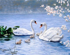 Swans Diamond Embroidery - TuneUpTrends.com