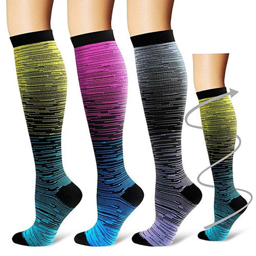 Outdoor Sports Compression Socks Gradient Printed - TuneUpTrends.com