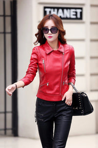 Pinky Is Black Fashion 2018 Women Leather Coat - TuneUpTrends.com