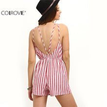 Load image into Gallery viewer, COLROVIE Sleeveless Summer Style Beach Rompers - TuneUpTrends.com