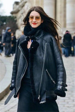 Load image into Gallery viewer, Faux Leather Berber Suede Shearling Coats - TuneUpTrends.com