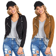 Load image into Gallery viewer, Biker Motorcycle Faux Leather Zipper Jacket - TuneUpTrends.com