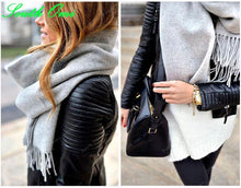Load image into Gallery viewer, Black Blazer Faux Soft Leather Jackets - TuneUpTrends.com