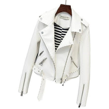 Load image into Gallery viewer, Faux Suede Womens Motorcycle Leather Jacket - TuneUpTrends.com